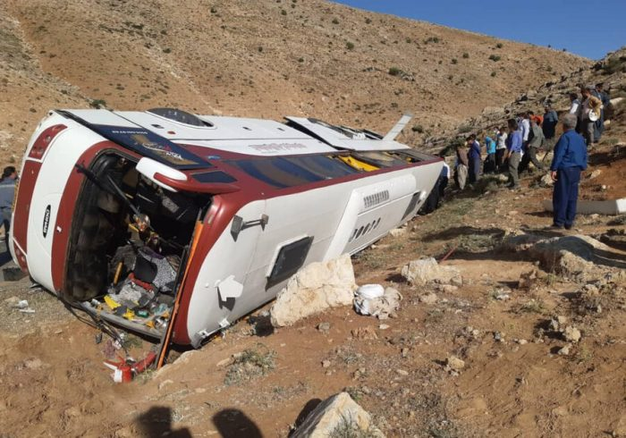 اطلاعیه پلیس راهور در خصوص حوادث واژگونی اتوبوس خبرنگاران و سربازان