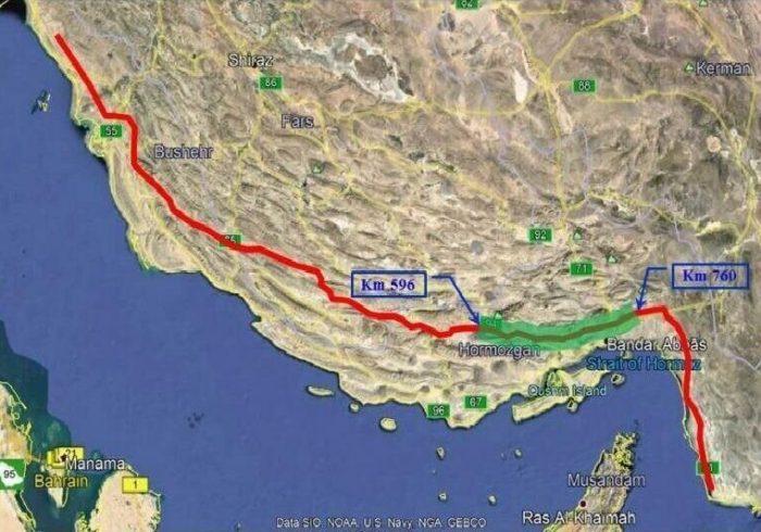نمایش شکست تحریمها با صادرات نفت ایران از دریای عمان